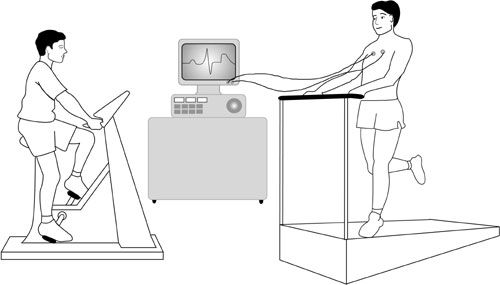 Exercise heart test